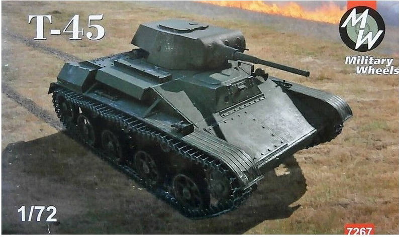 Легкий танк T-45. 1/72 MILITARY WHEELS 7267, фото 2