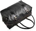 Дорожная сумка из натуральной кожи SHVIGEL 00042, Черный, фото 6