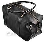 Дорожная сумка из натуральной кожи SHVIGEL 00042, Черный, фото 7
