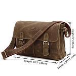 Сумка мужская Vintage 14083 через плечо Коричневая, Коричневый, фото 2