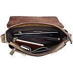 Сумка мужская Vintage 14083 через плечо Коричневая, Коричневый, фото 7
