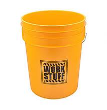 Ведро для мойки автомобилей - Work Staff Wash 20 л. желтое (9700034)