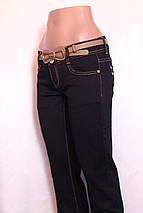 Женские  зауженные джинсы  без потертостей, фото 3
