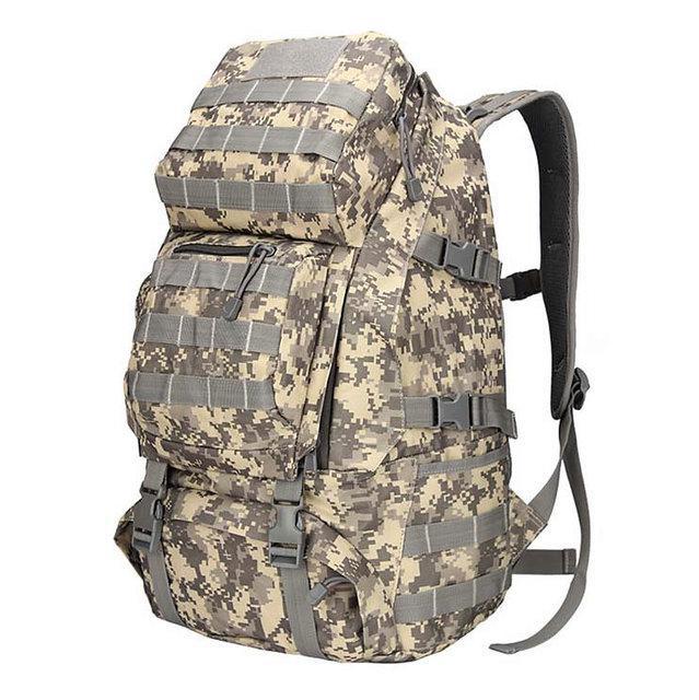 Рюкзак брезентовый мужской камуфляжный для активного отдыха. Туристические рюкзаки. 35 л