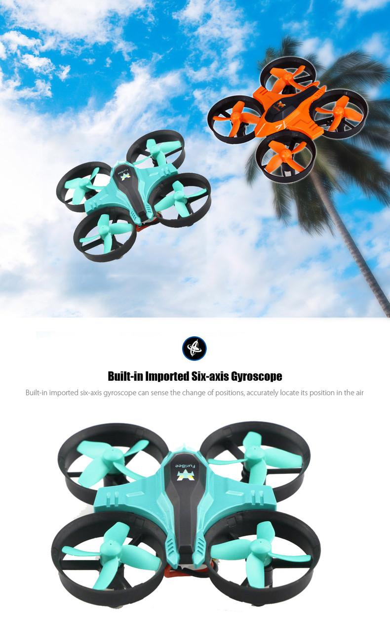 Дрон квадрокоптер FuriBee F36 мини. Голубой