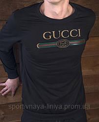 Мужской модный свитшот гучи Gucci реплика черный