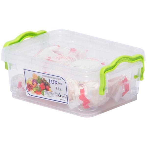 Пищевой контейнер с ручками 0,5 л  AL-PLASTIK Lux №1