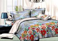 Двуспальный комплект постельного белья евро 200*220 хлопок  (7899) TM KRISPOL Украина