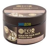 Маска для волос Кератиновая Интенсивное восстановление Бразильский купуасу Страны EcoLab, 250 мл