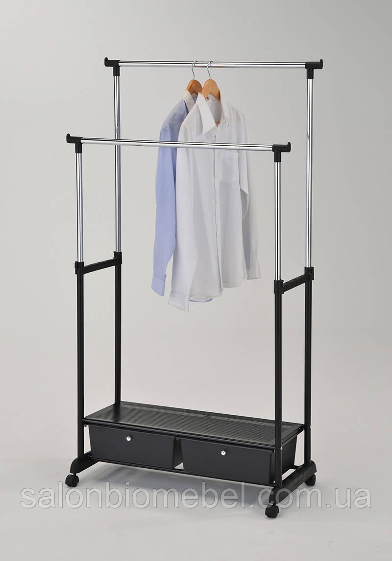 Стойка для одежды W-109 с 2 ящиками