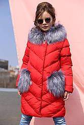 Зимнее пальто  с капюшоном  на девочку Банни нью вери (Nui Very)