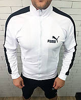 Мастерка мужская Puma D3546 белая, фото 1