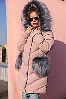 Теплое зимнее пальто на девочку Банни нью вери (Nui Very)