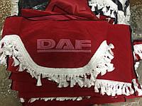 Шторы в кабину DAF красные, фото 1