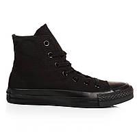 Кеды мужские Converse All Star - Black, материал - хлопок, в стиле Конверс, код U-0236