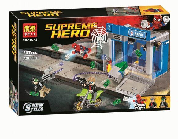 """Конструктор Bela 10742 (реплика Lego Super Heroes 76082) """"Ограбление банкомата"""" 207 дет"""