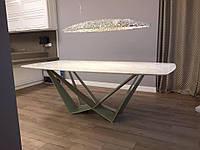 Стол обеденный Fantasy , 2100х1100х750 мм. из натурального мрамора