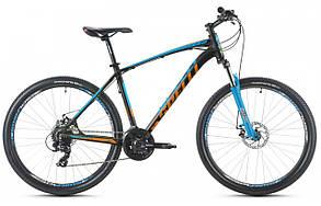 """Велосипед SPELLI SX-3200 650B (15"""")  черно оранжевый с синим"""