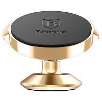 Автомобильный держатель Baseus Small Ears Series  Magnetic Suction Bracket Vertical Type Gold