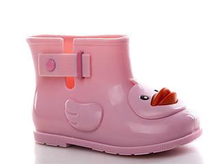 Резиновые сапоги для девочек, розовые утки