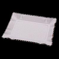 Тарелка бумажная прямоугольная 100шт малая