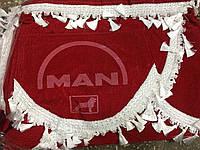 Шторы в кабину MAN красные, фото 1