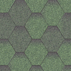 Битумная черепица Акваизол Мозаика. Зелёный Микс