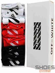 Набор носков Off-white White/Red/Black (6 шт)