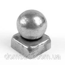 Металлическая заглушка 60х60 с шаром Ø60