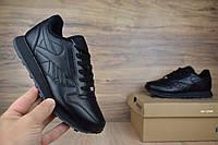 Женские кроссовки Reebok Classic черные Топ Реплика, фото 1