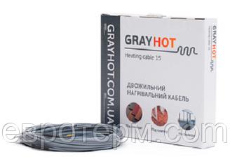 Теплый пол электрический GRAYHOT 6 м с трубкой для датчика на 0.6 м.кв. подогрева пола, нагревательный кабель