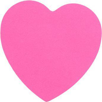 Блок бумаги с клейким слоем, сердце, 70х70мм, 50л, 2443-01-A