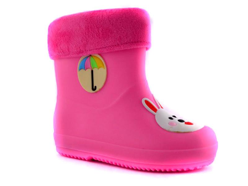 Резиновые сапоги для девочек Beeko, розовый заяц