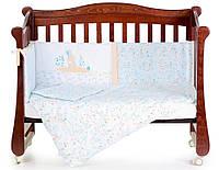 """Комплект детского постельного белья в кроватку """"Pin pin Blue""""  Верес™"""