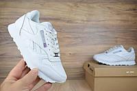 Женские кроссовки Reebok Classic белые Топ Реплика, фото 1