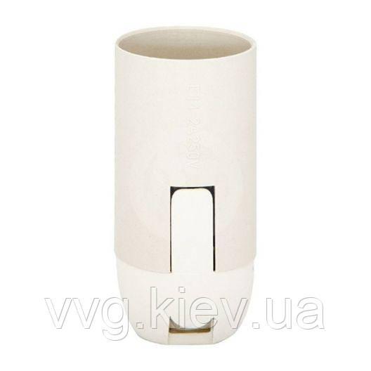 Патрон подвесной пластик, Е27, белый, индивидуальный пакет Ппл27-04-К02 IEK