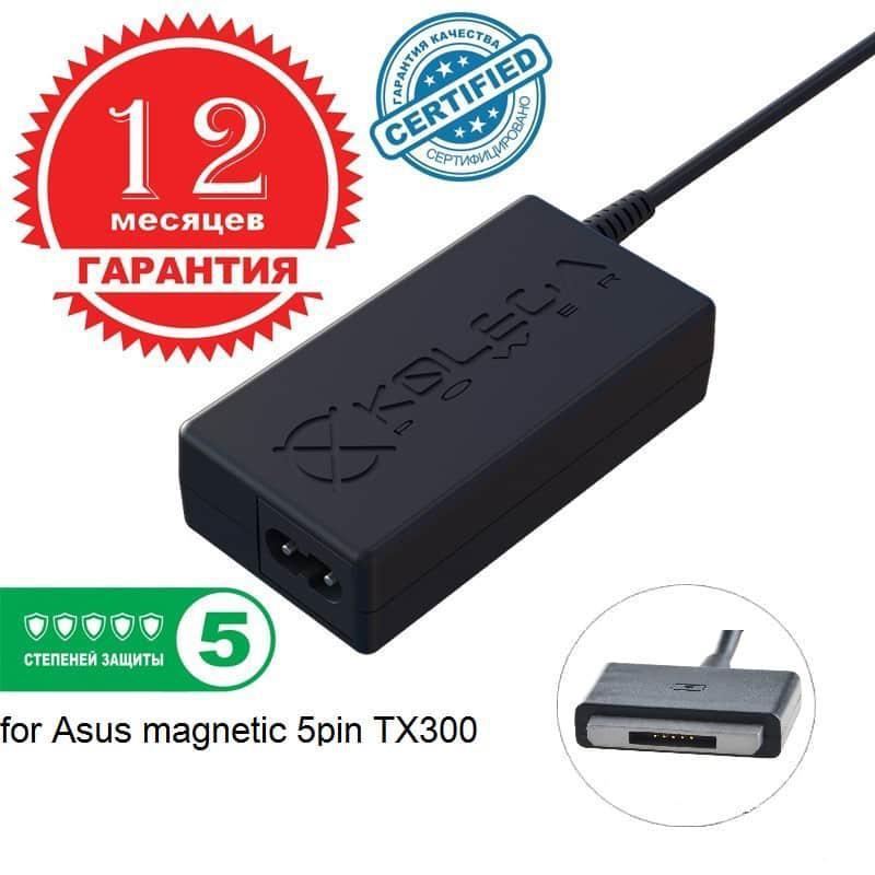 ОПТом Блок питания Kolega-Power для ноутбука Asus 19V 3.42A 65W magnetic 5pin TX300  (Гарантия 1 год)