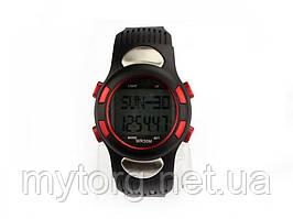 Наручные часы пульсометр и шагомер Puscard  Красный