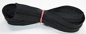 Молния рулонная метражная (лента витая, тип тип Т6 (№5)) цвет черный