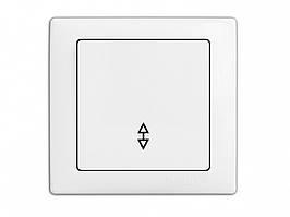 Выключатель 1-й проходной DELUX WEGA 9025 белый