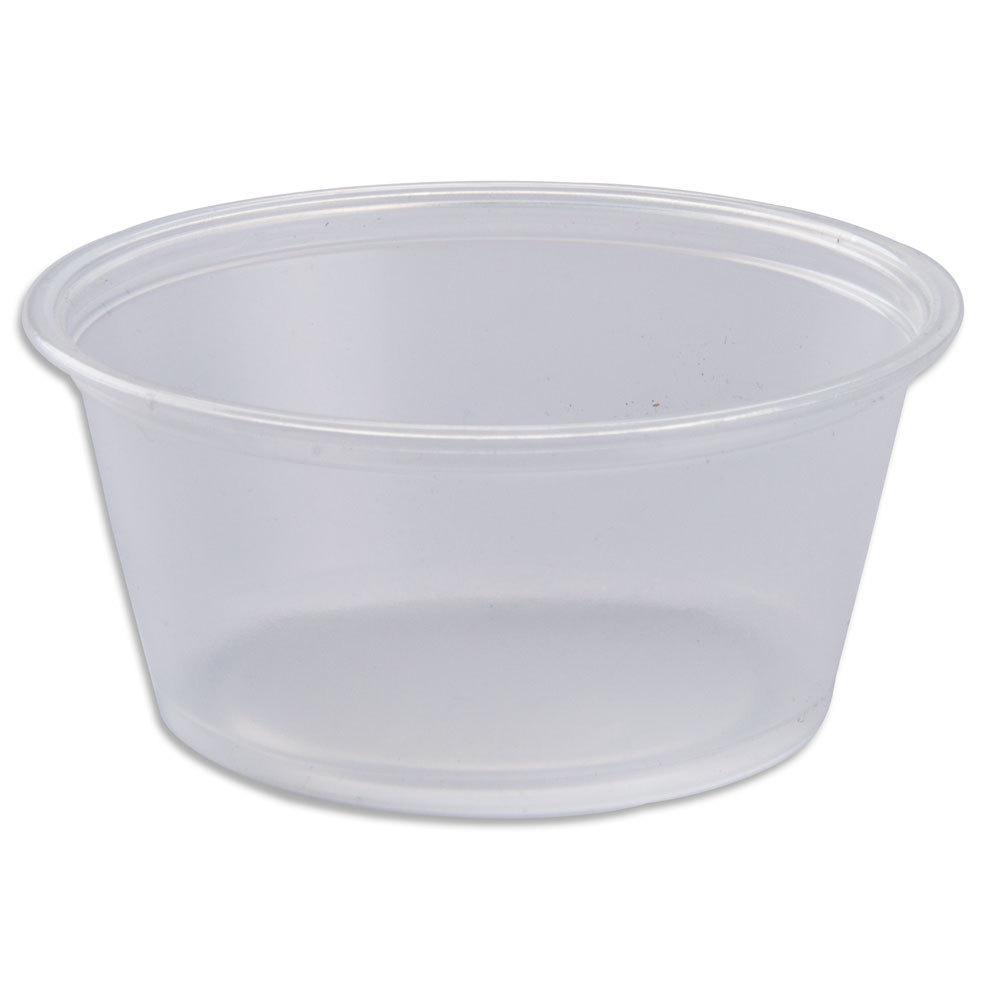 Соусник одноразовый 60 мл., 100 шт/уп пластиковый, прозрачный (крышка 08038) Dart