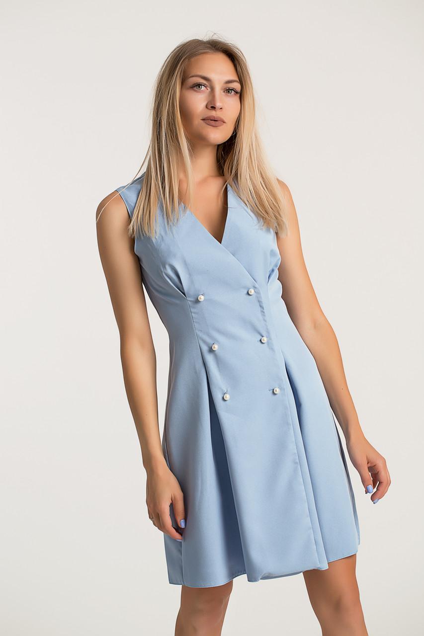 Платье LiLove 418-1  42 голубой