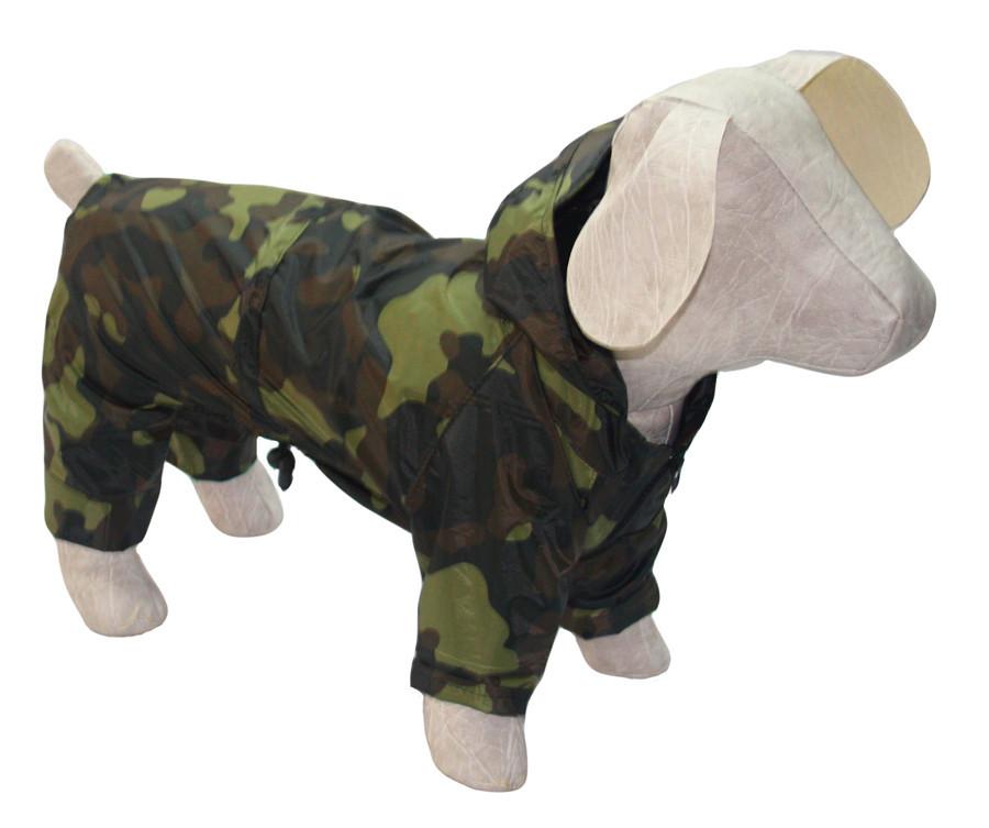 Дождевик для собак Камуфляж зеленый мини 21х27