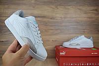 Женские кроссовки Pyma Match белые с серебром ТОП Реплика, фото 1