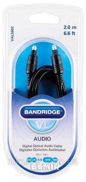 Кабель Bandridge ValueLine VAL5602, 2 м, Аудио цифровой оптический
