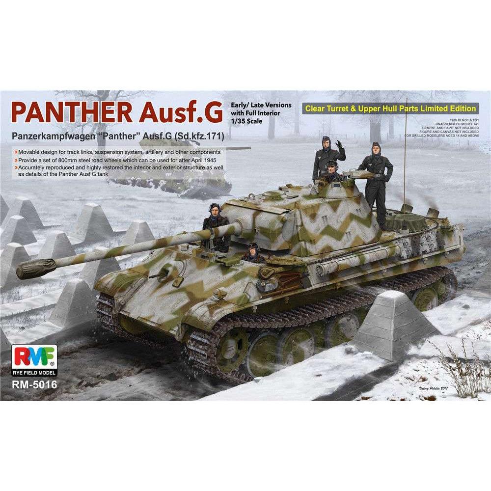 Panther Ausf.G (Sd. Kfz. 171), ранний/поздний с полным интерьером. 1/35 RFM RM-5016