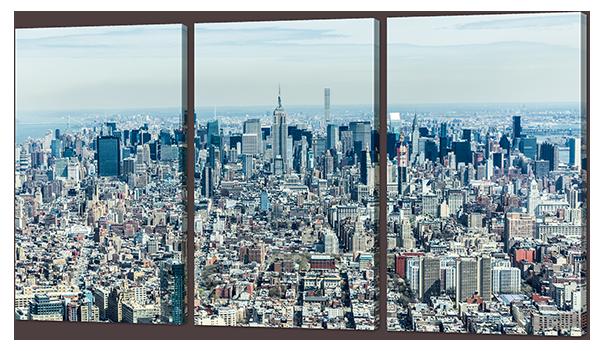 Модульная картина Мегаполис с высока