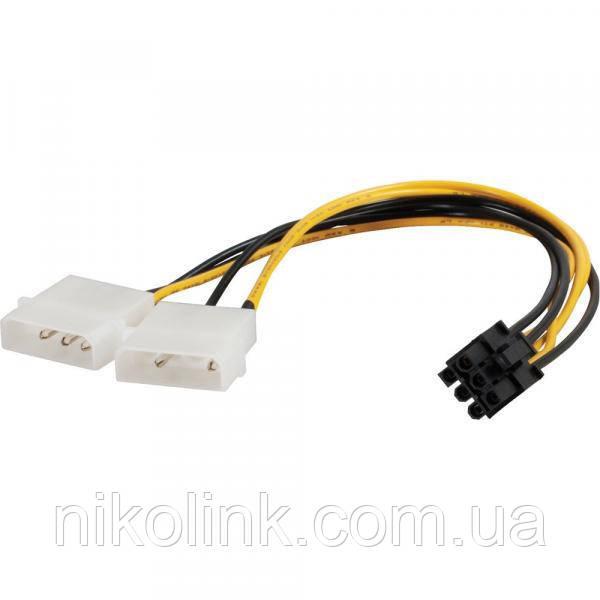 Переходник питания для видеокарт, Molex to 6 pin