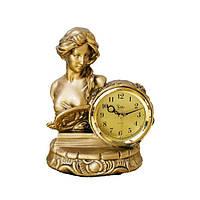 Каминные часы фигурой девушки Jibo 508