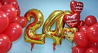 Шарики с цифрами на день рождения